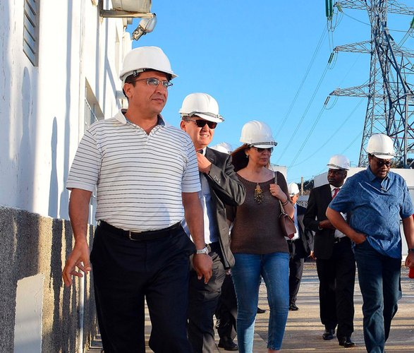 African Development Bank President visits Bank-funded Morocco-Spain power interconnection project