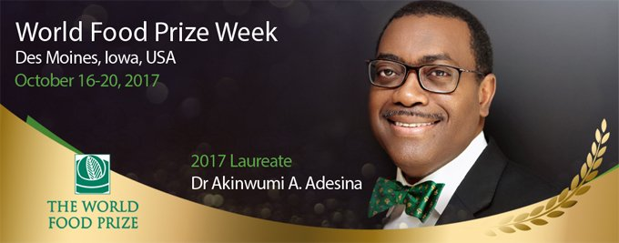 AfDB President, 2017 World Food Prize Laureate, participates in Borlaug Dialogue International Symposium