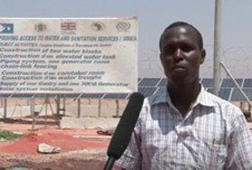A beneficiary by the Dusamareeb borehole