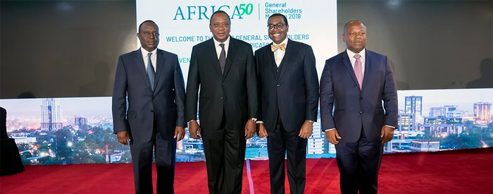 Africa50 Meeting: Kenyatta and Adesina call for accelerated private sector investment in infrastructure