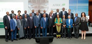 Group photo of Africa50 staff members