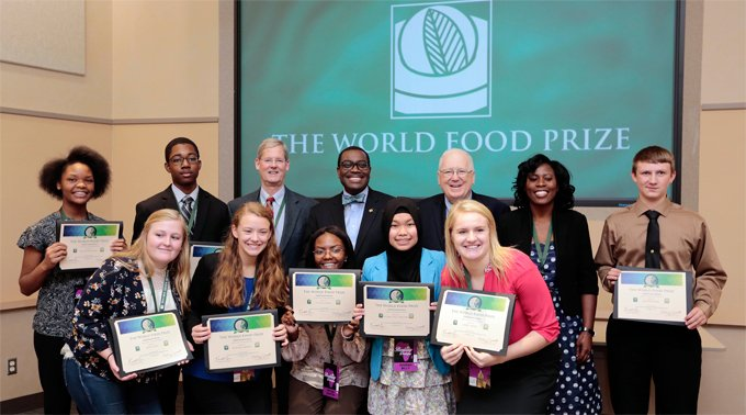 Creating the next generation of hunger-fighters: Adesina caps World Food Prize week with speech to youth