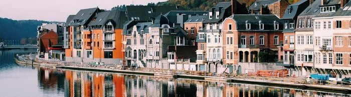 Belgian houses on the river