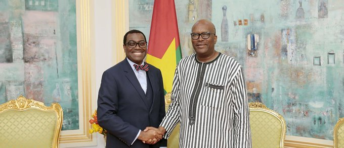 Akinwumi Adesina and Roch Marc Christian Kaboré