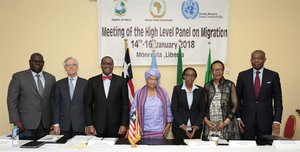 afdb - meeting high level panel migration - liberia
