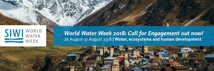 Submit your abstract for the 2018 World Water Week!