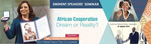 """African cooperation: dream or reality?"" - Nobel Peace Prize co-recipient Ouided Bouchamaoui invited as African Development Bank Eminent Speaker"