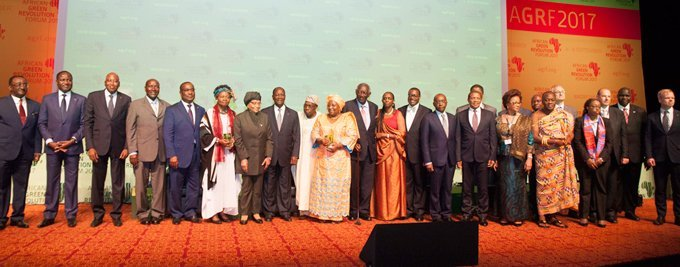 Group photo at the opening ceremony of the 2017 African Green Revolution Forum (AGRF) in Abidjan