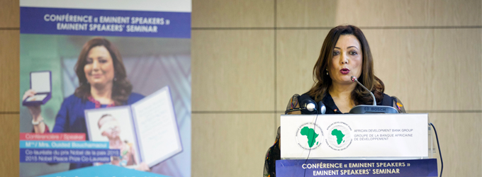 Tunisian businesswoman Ouided Bouchamaoui makes a bold case for African cooperation