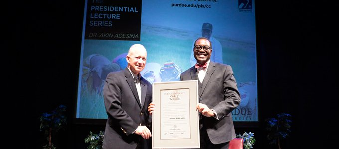 Adesina receives American university's highest honour, the 'Order of the Griffin'