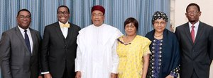 President Akinwumi Adesina in Niamey: The AfDB is working with Niger to speed up its development