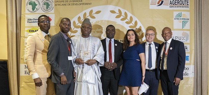 Gambia President Adama Barrow awarded the Great Builder Super Prize