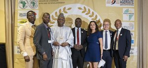 Gambia President Adama Barrow awarded the Great Builder Super Prize – The Africa Road Builders Babacar Ndiaye Trophy 2019