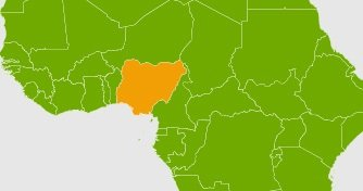 location of Nigeria on a map