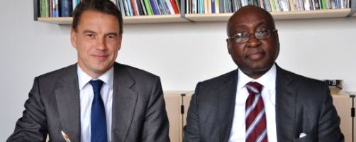 African Development Bank President Donald Kaberuka and Danish Minister for Development Cooperation, Christian Friis Bach