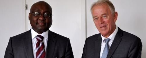 African Development Bank President Donald Kaberuka and Danish Minister for Foreign Affairs, Villy Søvndal
