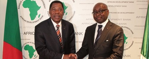 Dr Thomas Yayi Boni, the Chairman of The African Union pays a visit to AfDB President