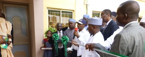 The Governor of Taraba State inaugurating the project during the official launching ceremony