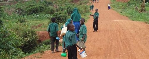 Community access road facilitating children to access schools in Kayunga District