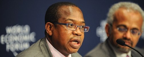 Mthuli Ncube, Chief Economist and Vice-President at the AfDB, during the launch of the Africa Competitiveness Report Press Conference - Copyright (cc-by-sa) © WEF