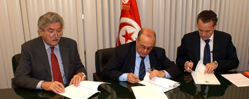 Signing Grant Agreement at Planning and International Cooperation Ministry, Tunis