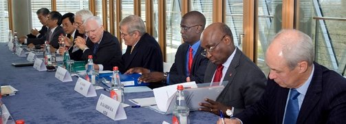 President Donald Kaberuka at MDB High-level Meeting in Luxembourg © EIB