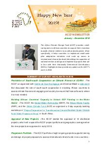 ACCF Newsletter - January-December 2018
