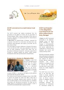 ACCF Newsletter - N°1 - January-June 2017