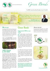 Green Bond Newsletter - Issue N°1 - May 2014