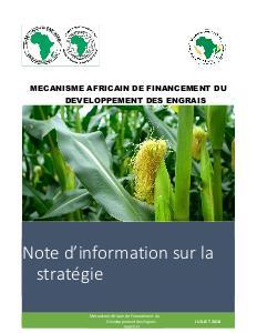 AFFM - Note d'information sur la stratégie - 2018