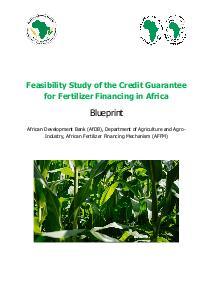 Credit Guarantee Models for Fertilizer Financing in Africa