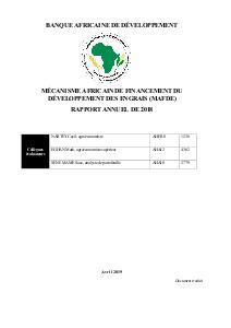 MAFDE - Rapport annuel 2018