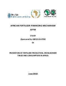 Study on promotion of fertilizer production, cross-border trade and consumption in Africa