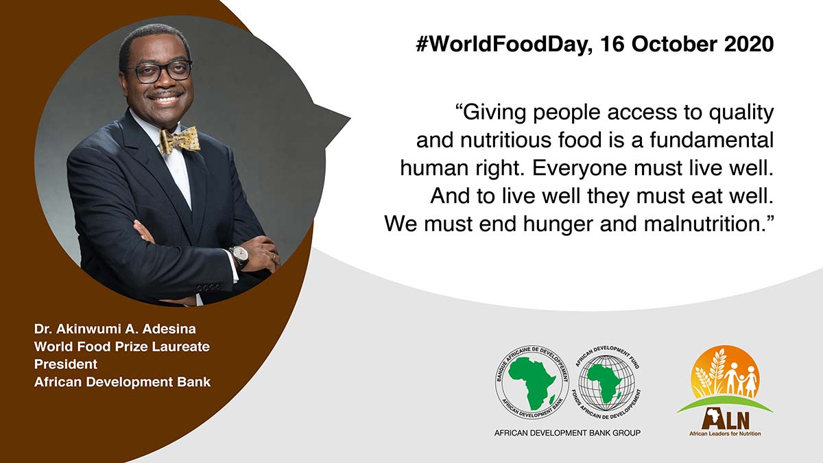 World Food Day October 16, 2020: President Adesina on food security in Africa