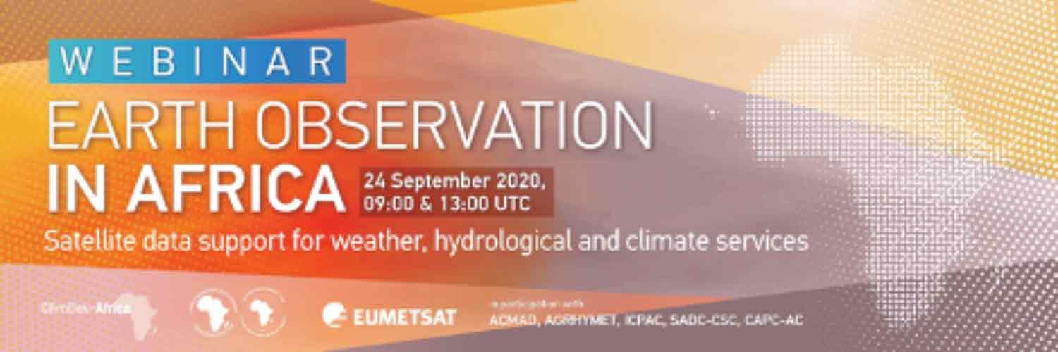 Webinar on Earth Observation in Africa: Satellite Data Support for Weather, Hydrological and Climate Services