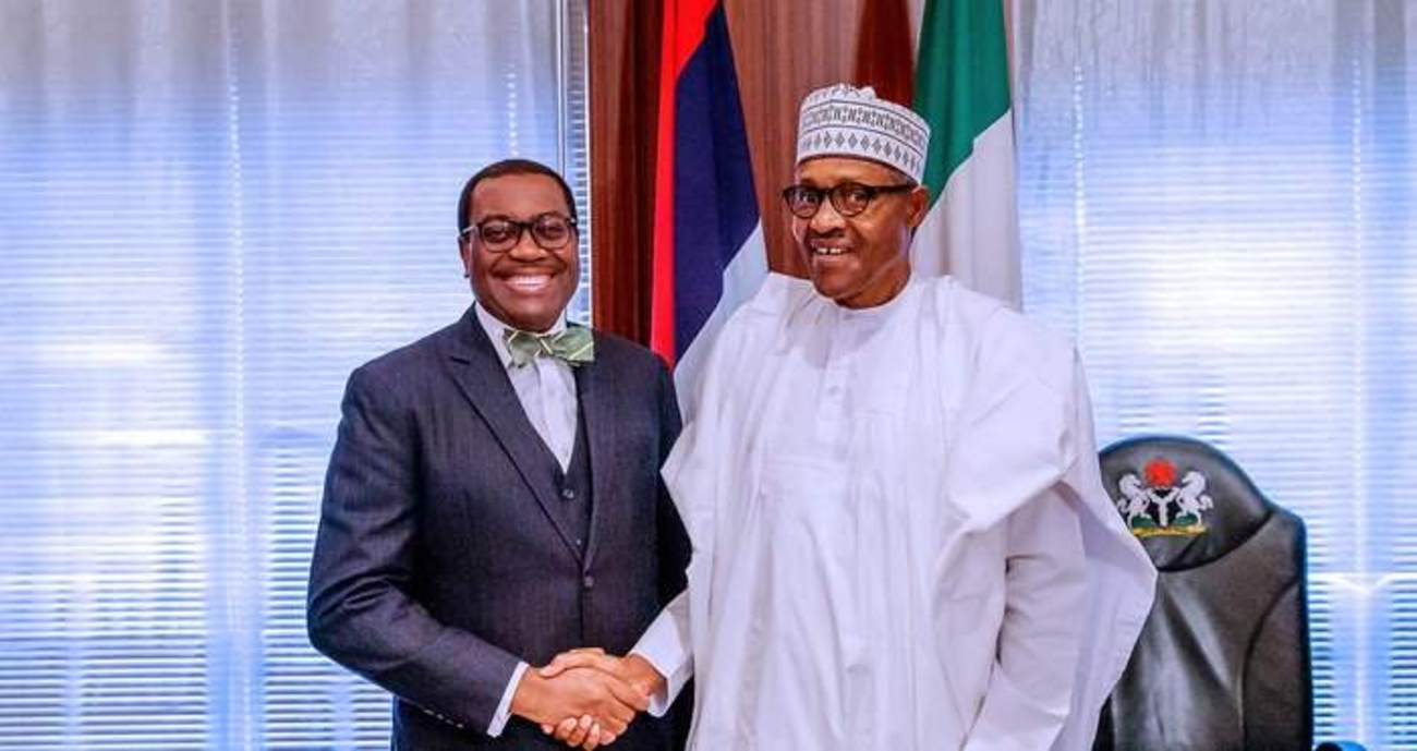 Buhari Meets President Of AfDB, Akinwunmi Adeshina At The Villa